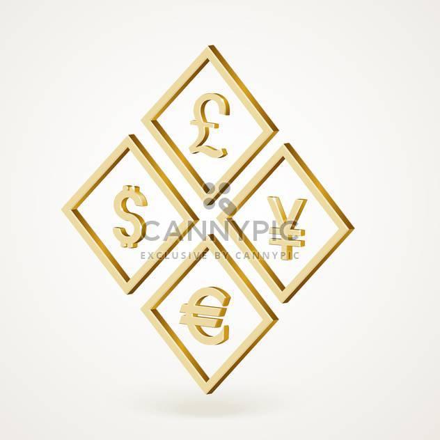Vektor-Illustration der gelben Währungssymbole - Kostenloses vector #129507