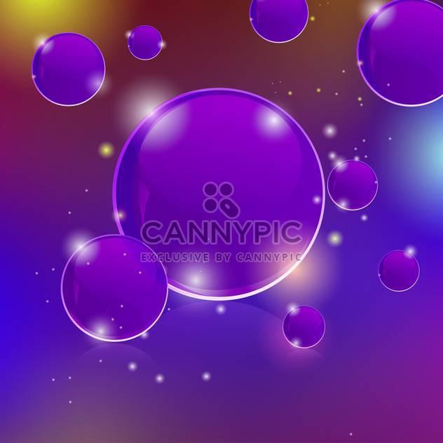 Vektor glühend abstrakt lila mit Blasen - Kostenloses vector #129527