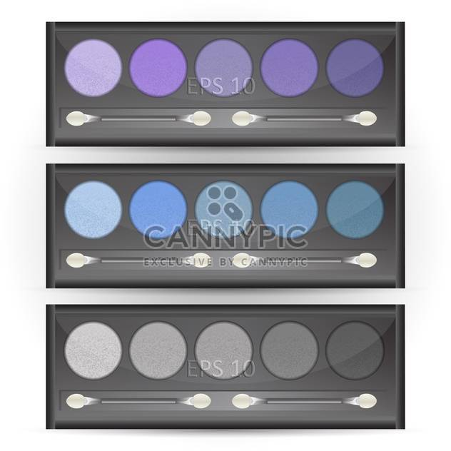 Vector set of eye shadows palettes - Free vector #129557