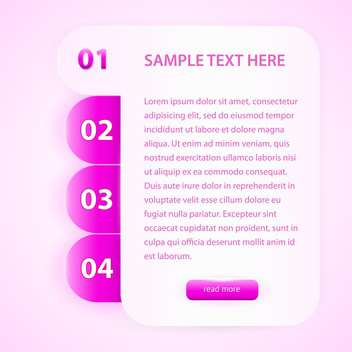 Vector pink banner with numbers - vector gratuit #129567