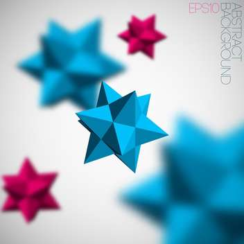 Abstract vector background with 3d blue and pink figures from pyramids - Free vector #129677