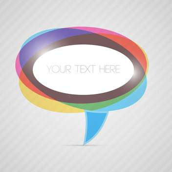 Vector colorful speech bubble with place for text - vector gratuit #129887