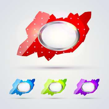 Colorful glossy banners for message - vector gratuit #129967