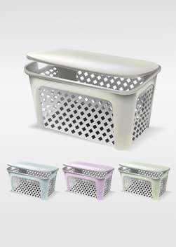 Vector illustration of empty basket set - vector gratuit #129977
