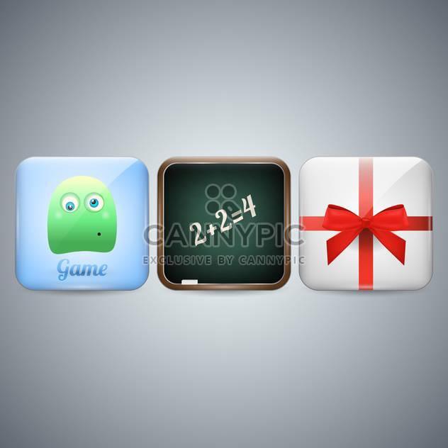 Handy Icons auf grauem Hintergrund - Kostenloses vector #130097