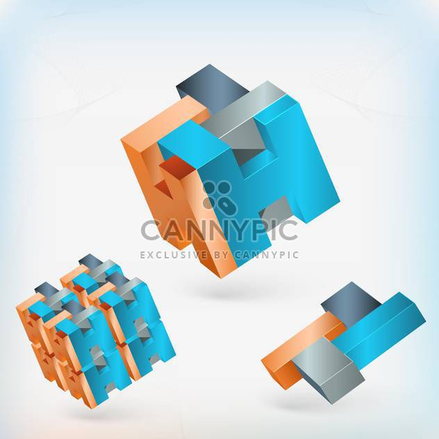 abstract geometric elements on light background - Free vector #130107