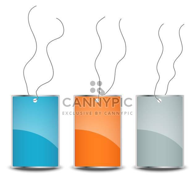Drei leere Preisschilder auf weißem Hintergrund - Kostenloses vector #130127