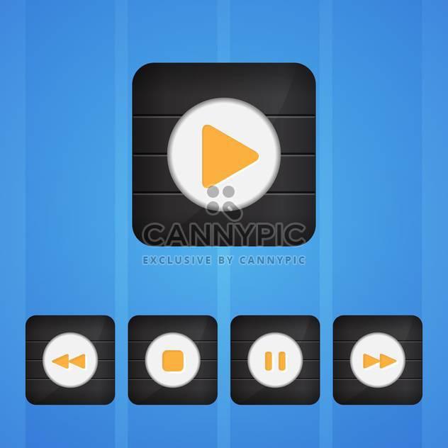 Vektor festgelegt Spieler Tasten auf blauem Hintergrund - Free vector #130157