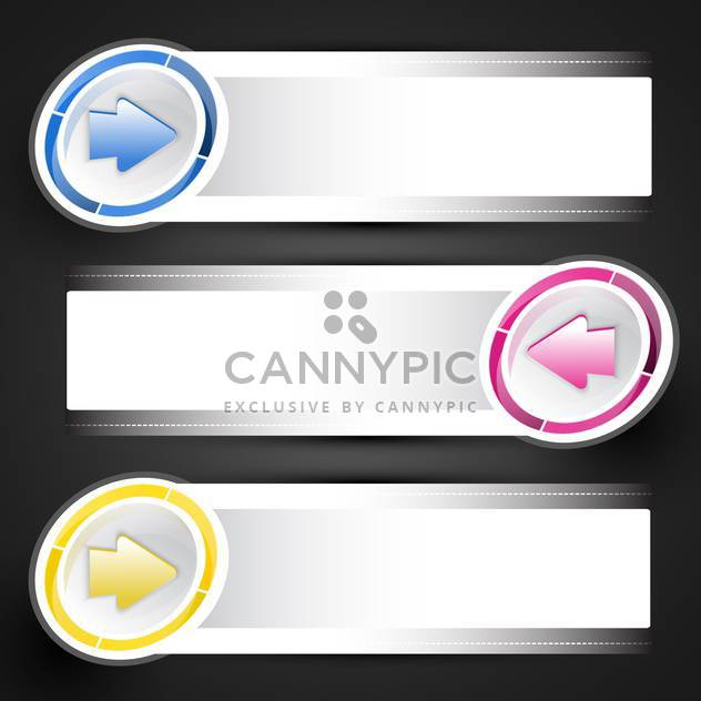 Vector illustration of arrow stickers on banners - Free vector #130227