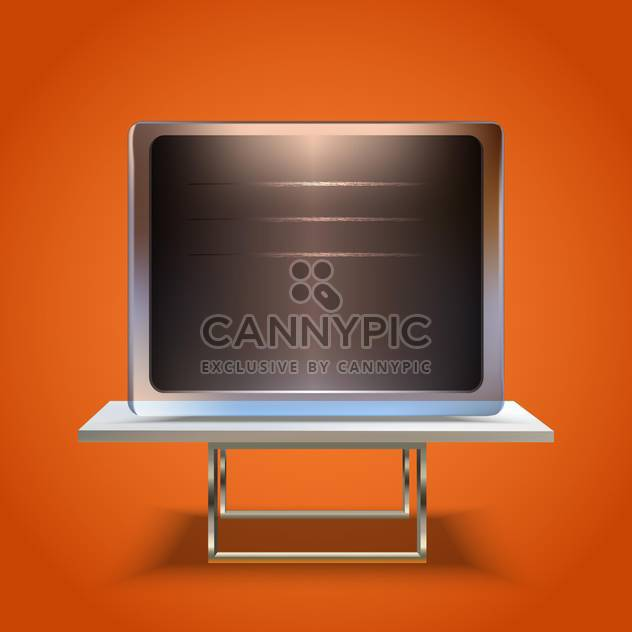 Vektor-Blatt Board-Bildschirm-Symbol - Free vector #130257