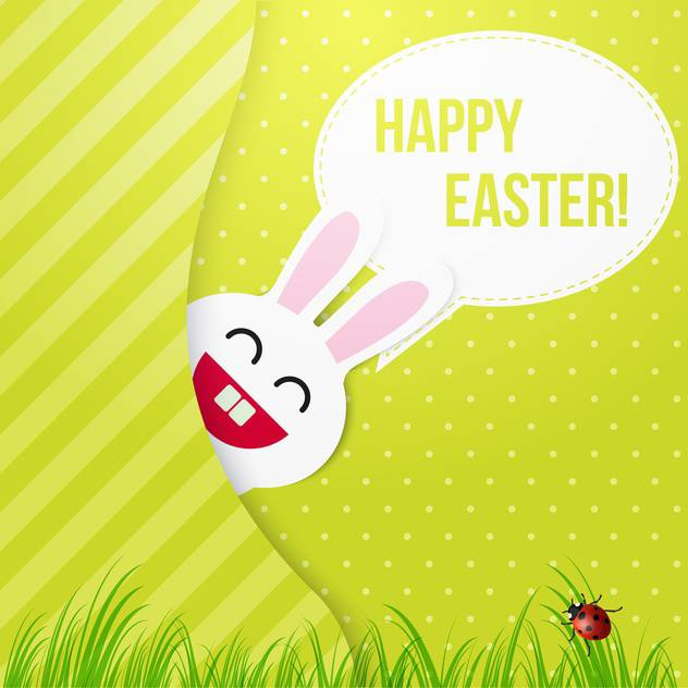happy easter card with bunny - Free vector #130277