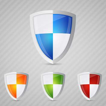 protection shields set background - vector gratuit #130287