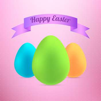 happy easter eggs card - vector gratuit #130297
