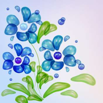 water drops shaped vector flowers - vector gratuit #130317