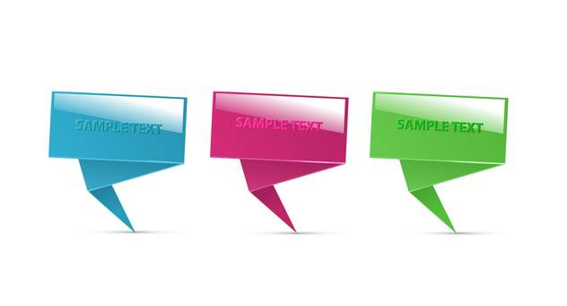 paper speech bubbles set - vector #130327 gratis
