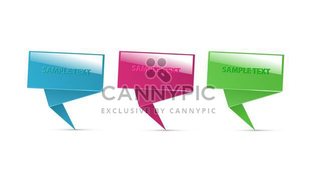 paper speech bubbles set - Free vector #130327