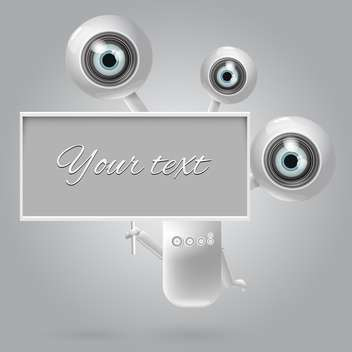 vector web camera set with place for text - vector #130337 gratis