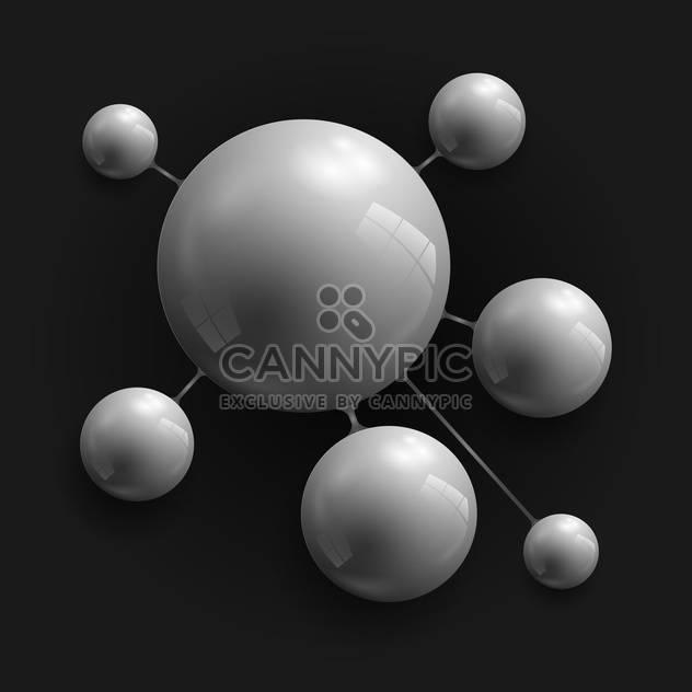 vector abstract dark spheres - Free vector #130357