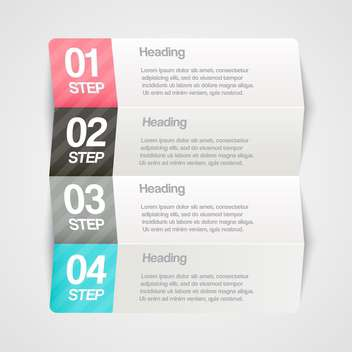Vector paper progress steps for tutorial - vector gratuit #130377