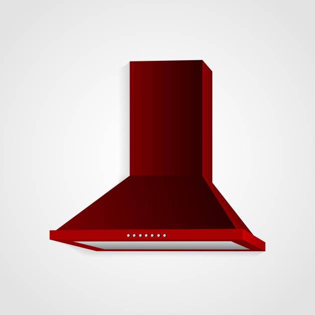 Red cooker hood vector - vector #130397 gratis