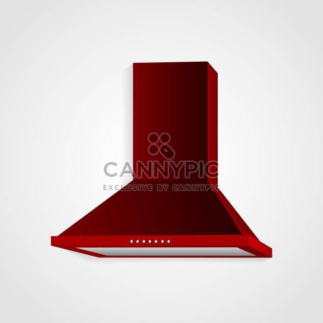 Red cooker hood vector - Free vector #130397