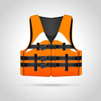 Life vest illustration icon, isolated on white background - vector gratuit #130407