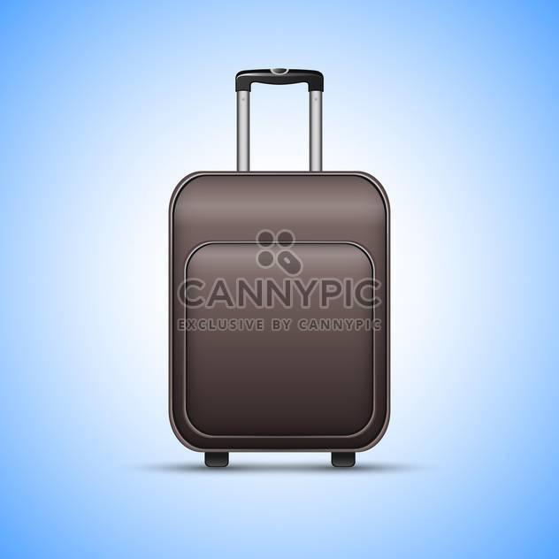 Schwarz Reisen-Koffer, auf blauem Hintergrund - Kostenloses vector #130417
