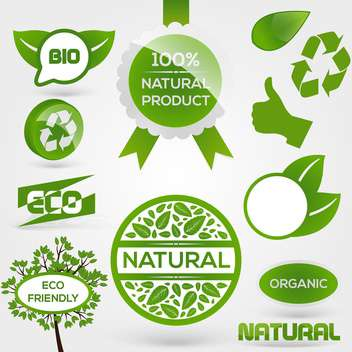 Vector Eco Stamps and Labels - vector gratuit #130427