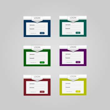 Set with vector login forms - vector #130447 gratis