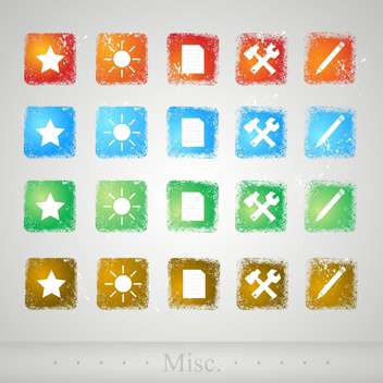 set of web vector buttons - Free vector #130507