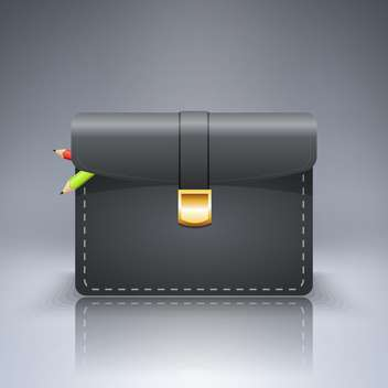 briefcase with pencils vector illustration - vector gratuit #130517