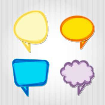 Vector set of colorful speech bubbles - vector gratuit #130547
