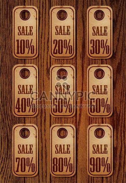 Vector set of sale retro price tags - Free vector #130597