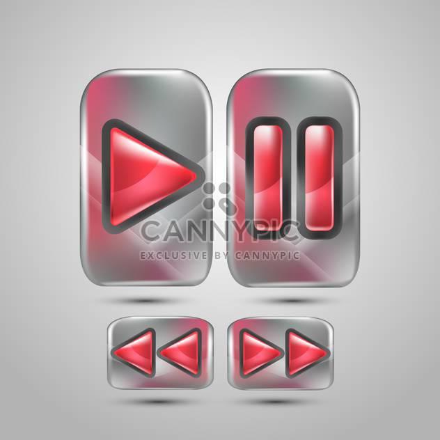 Vektor-Musik-Ikonen auf grauem Hintergrund - Free vector #130667
