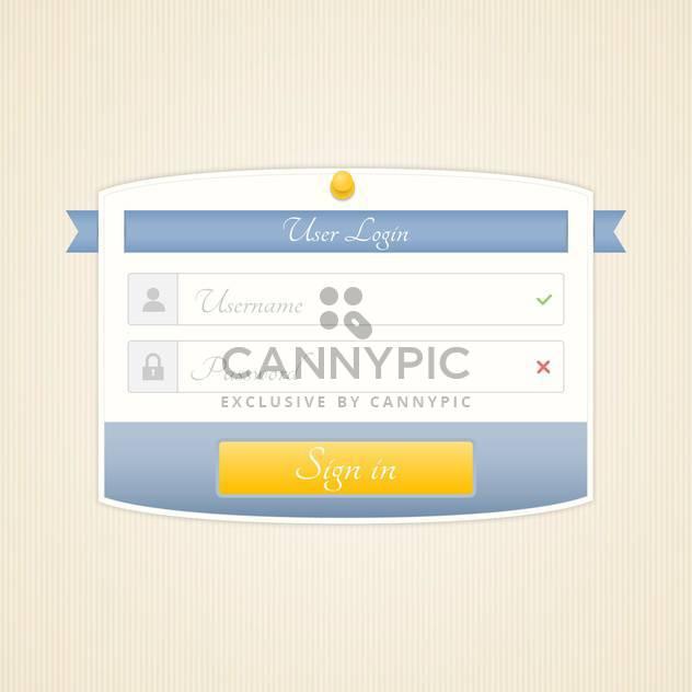 web user login on beige background - Free vector #130687