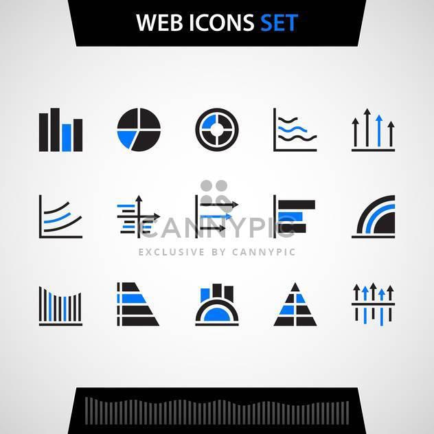 Finanz- und Geschäftszentrum Vektor Icon-set - Kostenloses vector #130727