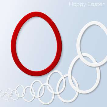 easter card with eggs and text place - vector gratuit #130797