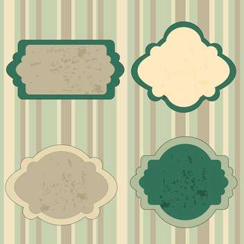 Set of retro green tags vector illustration - бесплатный vector #130877