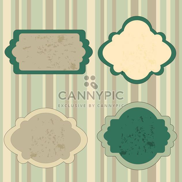 Set of retro green tags vector illustration - Free vector #130877