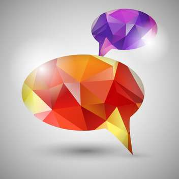Abstract origami speech bubbles - vector gratuit #130897