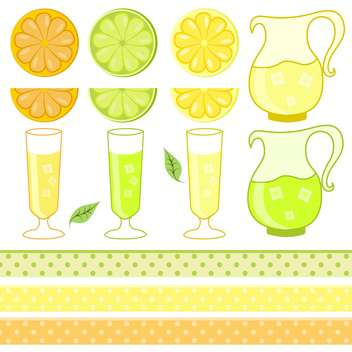 citrus juice set vector illustration - vector gratuit #130927