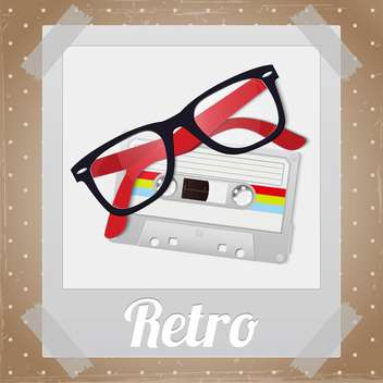 Retro hipster items vector illustration - Free vector #130977