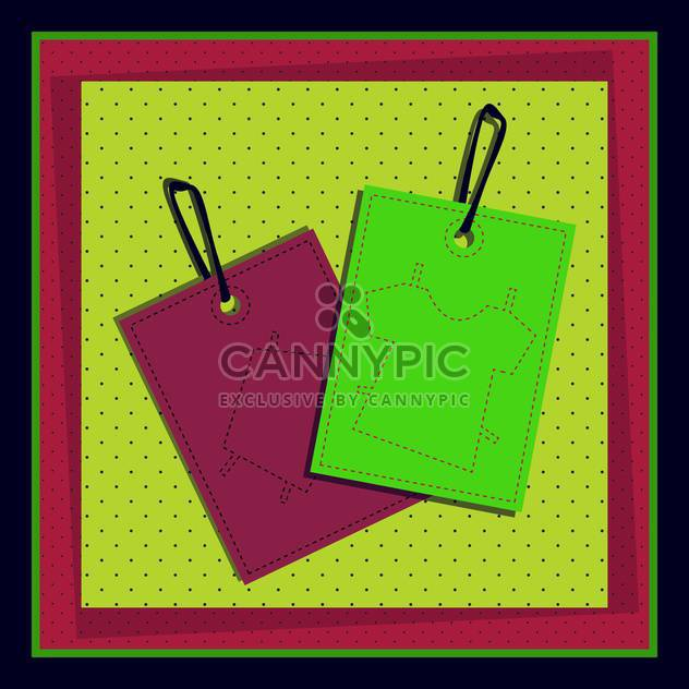 price labels with clothes vector illustration - Free vector #130997