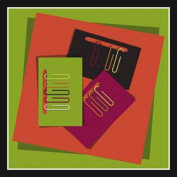 papers conjunction with colored paper clips - vector gratuit #131007