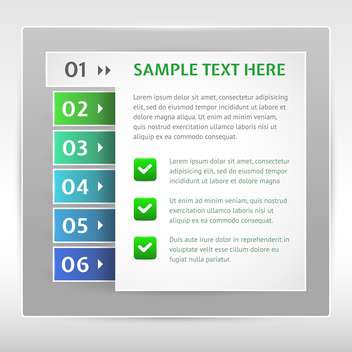 Modern design template can be used for infographics - Free vector #131047
