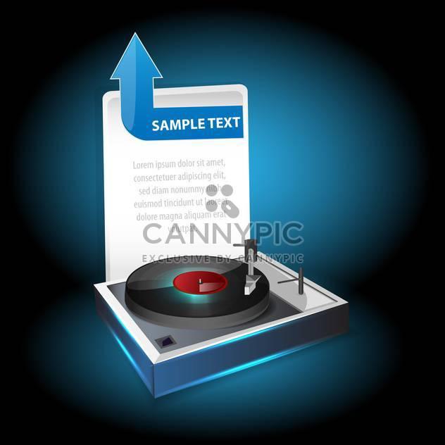 Vinyl player vector illustration - Free vector #131077
