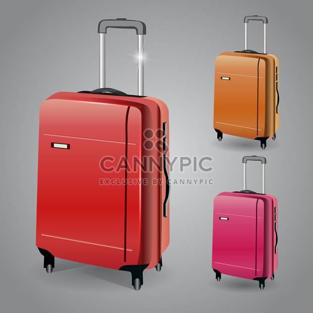 Vektor-Gepäck legen Abbildung auf grauen Hintergrund - Kostenloses vector #131117