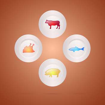 Meat food concept vector illustration - бесплатный vector #131217