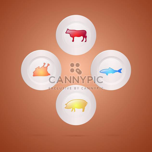 Meat food concept vector illustration - Free vector #131217
