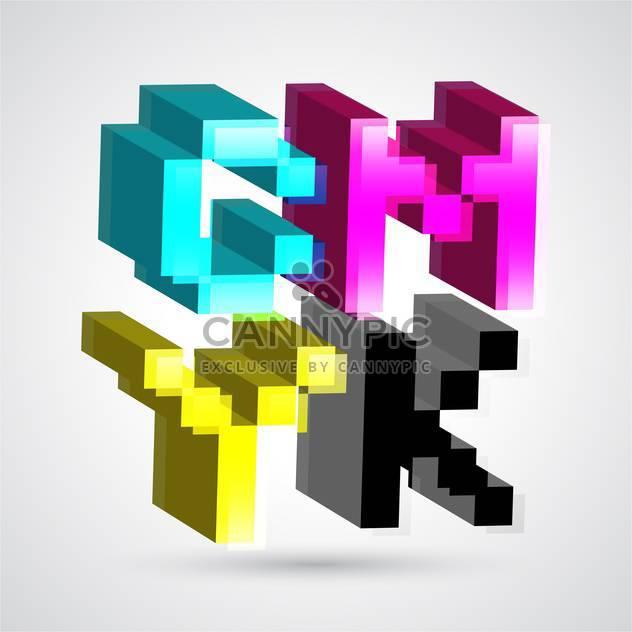 3D Cmyk-Farben für Gestaltung-Vektor-illustration - Kostenloses vector #131227
